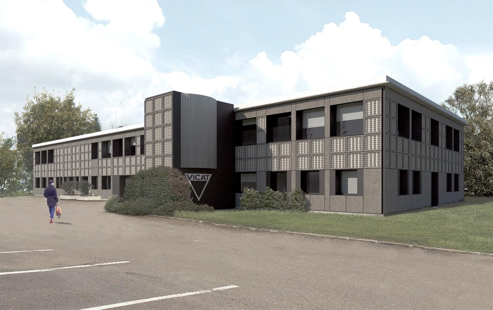 FORMIDABLE architectes - réhabilitation bureaux VICAT - projet