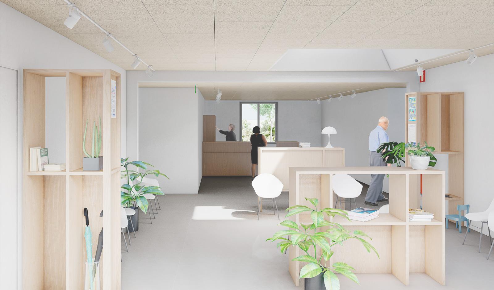 projet aménagement intérieur salle d'attente cabinet médical