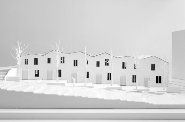 maquette projet architecture maisons logement intermédiaire Lyon Vaise